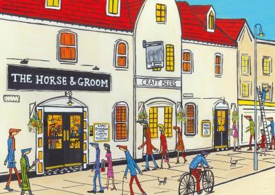 Illustration Du Sud De Londres, L'Artiste Dan The Horse & Groom