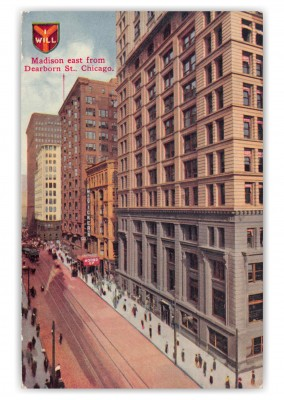 Chicago Illinois Madison East from Dearborn Street
