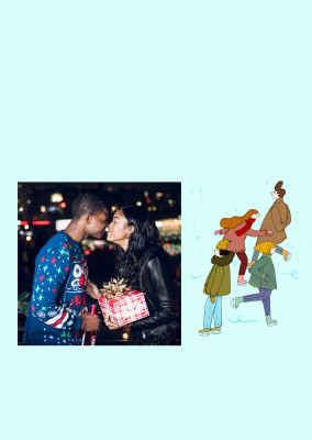 Christmas Ice Skaters - Anna Grimal