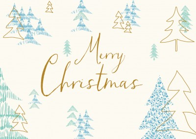 Merry Christmas Illustration Christmas trees