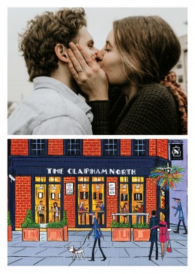 Illustration Du Sud De Londres, L'Artiste Dan Clapham Clapham North