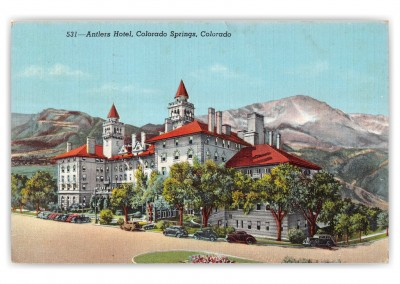 Colorado Springs, Colorado, side view of Antlers Hotel