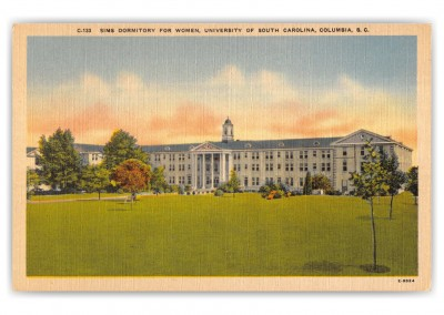 Columbia, South Carolina, Sims Dorm for Women, Univeristy of South Carolina