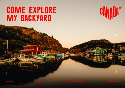 postcard saying Come explore my backyard, St. John's, Newfoundland and Labrador - Destination Canada