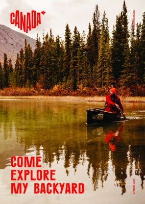 postcard saying Come explore my backyard, Emerald Lake, Yukon - Destination Canada