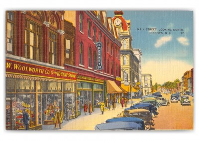 Concord, New Hampshire, Main Street looking north