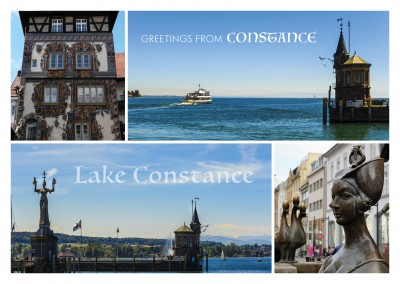 photocollage of Constance , Germany old town