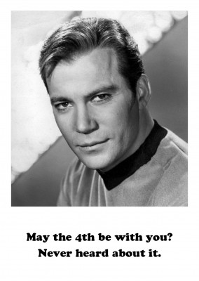 Foto William Shatner rolig
