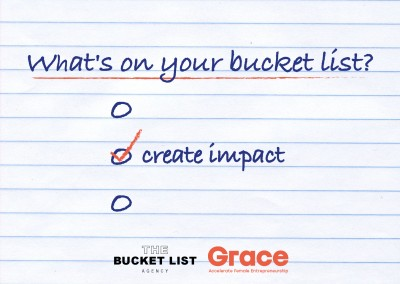 Bucket List Agency create impact design saying