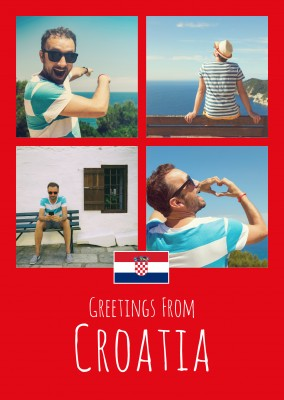 greeting card Greetings from Croatia