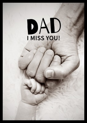 dad i miss you spruch postkarten design