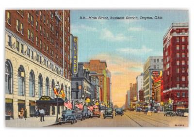 Dayton, Ohio, main Street business section