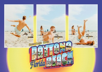 Vintage Grußkarte Large Letter Postcard Site greetings from Daytona Beach, Florida