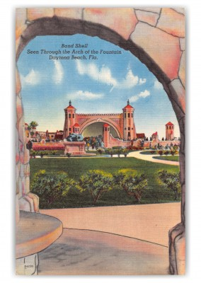 Daytona Beach, Florida, Band Shell through Arch of the Fountain
