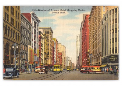 Detroit, Michigan, Woodward avenue, SHopping Cneter