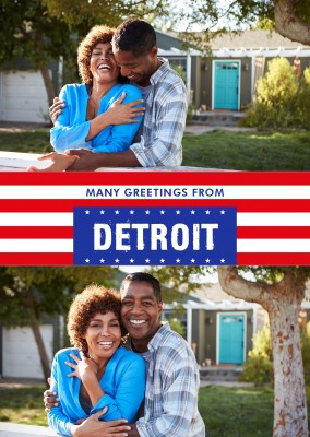Detroit Grüße USA Flaggendesign