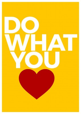 do what you love postcard design