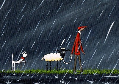 Illustration South London Artist Dan dog and sheep