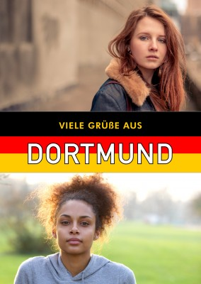 Dortmund in German flag design