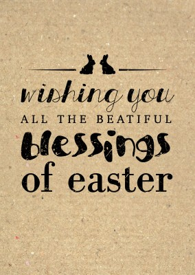 Wishing you all the beautiful blessings of easter with different fonts