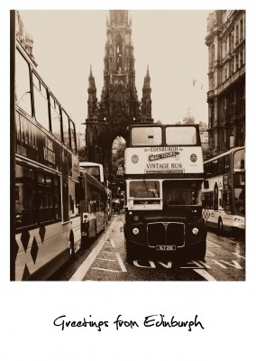 Photo Edinburgh bus on the road
