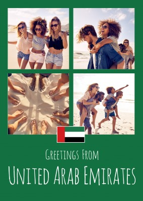 greeting card Greetings from United Arab Emirates