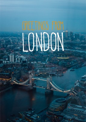greeting card with a photo of towerbridge