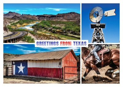 collage de fotos de Texas