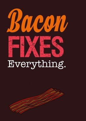 bacon gráfico retro fontes