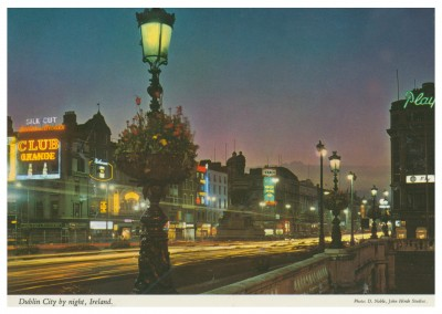 John Hinde photo d'Archive de Dublin par nuit