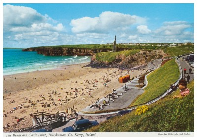 John Hinde photo d'Archive de La Plage et du Château de Point, Ballybunion