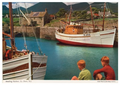 John Hinde photo d'Archive Annalong Harbor, Co, Down, Irlande du Nord