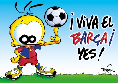 Le Piaf Cartoon Viva el Barca! Oui!