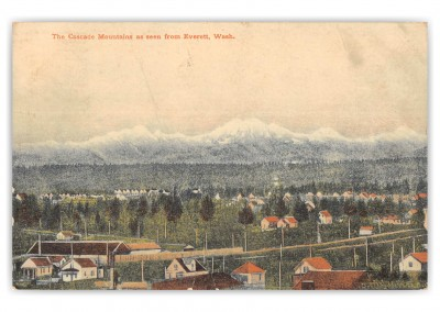 Everett, Washington, Cascade Mountains