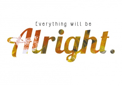 everthing will be allright postcard