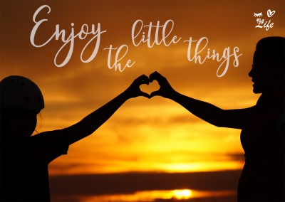 Eye-love foto mit spruch enjoy the little things
