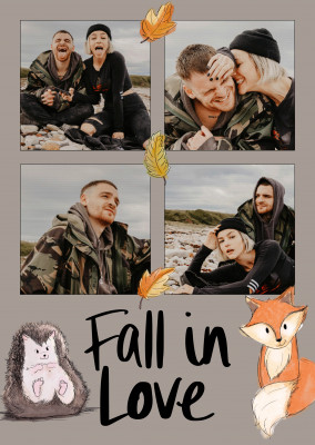 postcard Fall in love