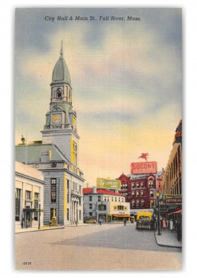 Fall River, Massachusetts, City Hall and Main Street