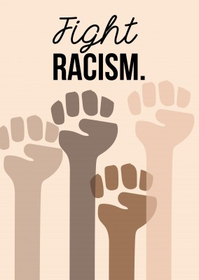 hands fight against racism