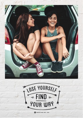 HI USA Lose yourself, find your way quote