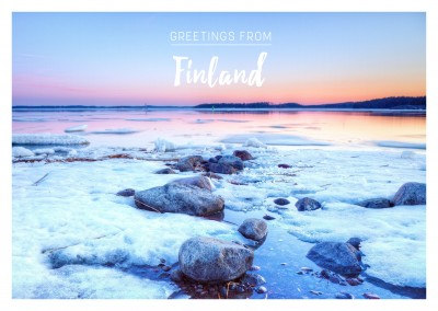 foto Finland meer in de winter