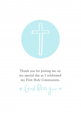 Thank you for joining me on my special day as I celebrated my First Holy Communion. God bless you.