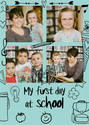 postcard my first day at school