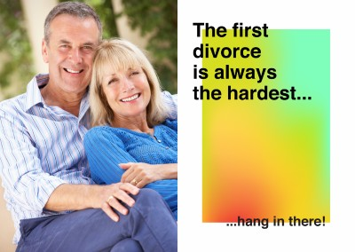 The first divorce is always the hardest... Hang in there!
