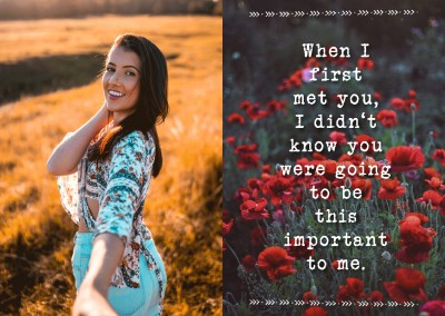 Liebeskarte Spruch first met you be important to me