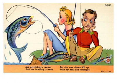 Curt Teich Postcard Archives Collection fishing