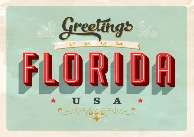 Florida vintage postcard card