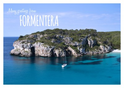 Photo of a bay at Formentera