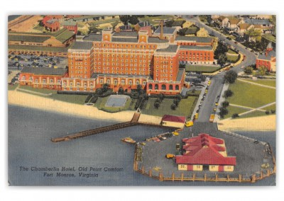 Fort Monroe, Virginia, Chamberlin Hotel, Old Point COmfort