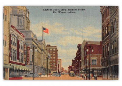 Fort Wayne, Indiana, Calhoun Street, Main Buisness Section